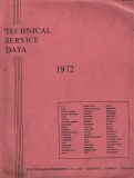 1971-1972 - Technical Service Data - Private cars, comm. vans, trucks & tractors