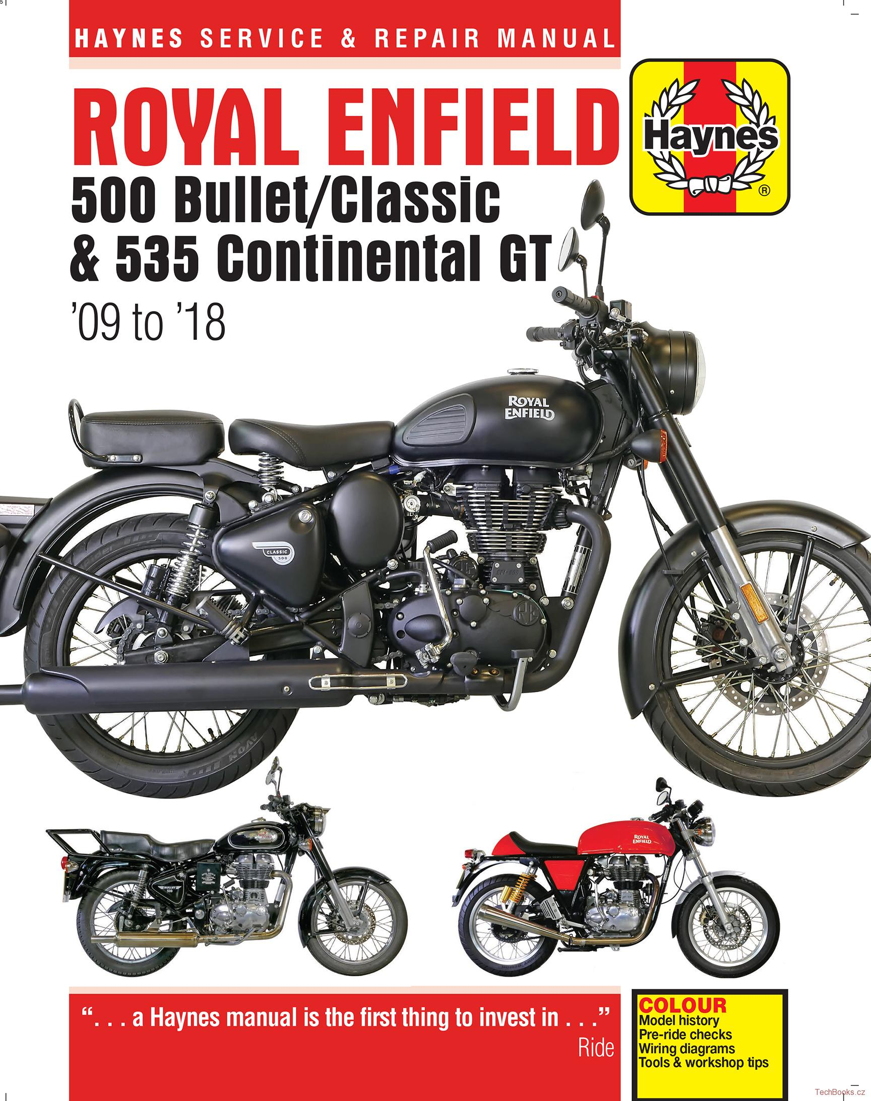 Royal Enfield 500 Bullet/Classic & 535 Continental GT (09 - 18)