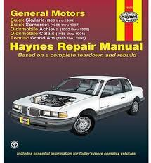 GM Buick Skylark / Somerset, Oldsmobile Achieva/Calais, Pontiac Grand Am (85-98)