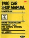 1980 Ford Car Shop Manual