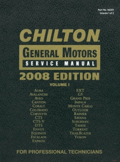 Chilton General Motors Service Manual 2005-2008, Volume 1