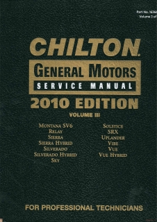 Chilton General Motors Service Manual 2008-2010, Volume 3