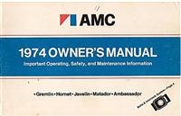 AMC 1974 Owners Manual