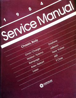 1984 Chrysler Service Manual - Chassis, Body