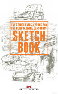 Ever since I was a young boy I've been drawing Cars in my Sketchbook