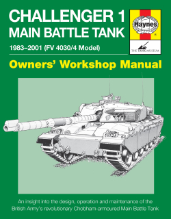 Challenger 1 Main Battle Tank Manual - 1983-2001 (FV4030/4 Model)