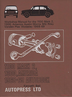 BMC Austin / Morris / MG / Riley / VdP / Wolseley 1100 Mk 2 & 1300 (68-69)