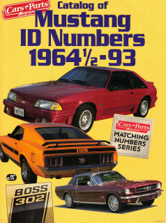 Catalog of Mustang ID Numbers, 1964-93